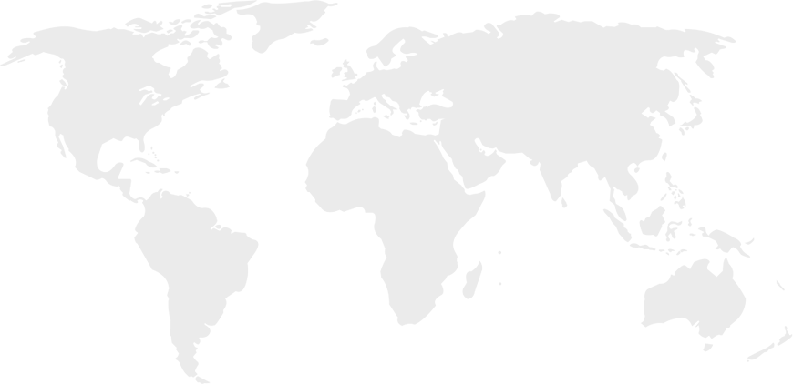 Gray map of the world